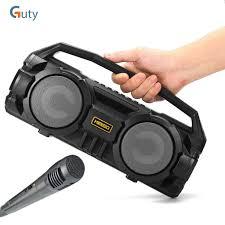 Loa Bluetooth Karaoke Xách Tay Kimiso KM S1 Tặng Kèm 1 mic hát có dây cắm  trực tiếp, Âm Thanh Cực Chắc Và Không Bị Rè