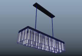 odeon fringe rectangular 49 3d model obj fbx