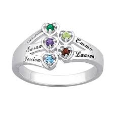 infinity mothers ring. mother\u0027s simulated birthstone heart ring in sterling silver (2-6 stones and names) | personalized rings create your own zales infinity mothers 0