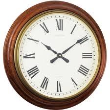 traditional oak wall clock 55cm