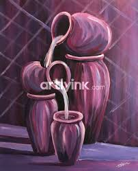 indian pottery 24 off acrylic paintings