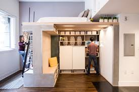 multifunctional furniture for small spaces. Make The Most Of A Small Space With This Multifunctional Loft System Furniture For Spaces