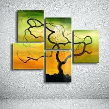 abstract acrylic painting on canvas hand painted colorful landscape oil tree paintings home decor wall art