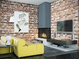what colours go with red brick wallpaper exposed sofa colors that interior paint color goes exterior