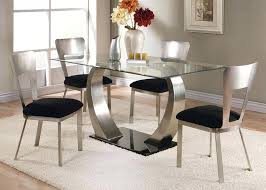 5 piece glass dining table set picture 1 of 3 5 piece glass dining table set