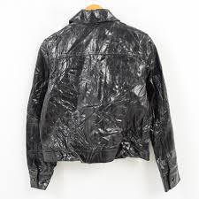 donna karan new york dkny jeans leatherette jacket men xs wam1732