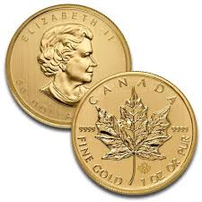 1 Oz Canadian Maple Leaf Gold Coin