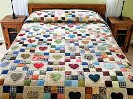 Quilt Designs For Layer Cakes Patchwork Quilt Patterns Australia ... & ... Patchwork Quilt Patterns Free Hexagon Patchwork Quilt Patterns  Pinterest Hearts And Nine Patch Quilt Exquisite Made ... Adamdwight.com