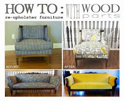 How to Re-Upholster Furniture with Wood Parts