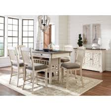 dining room sets. Bolanburg White And Gray Rectangular Counter Height Dining Room Set Sets