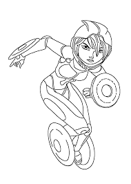 Gogo Tomago Hero Coloring Pages For