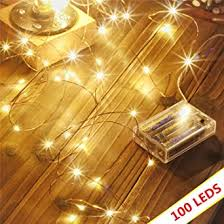 <b>Led String Lights</b> 100 LEDs Decorative Fairy <b>Battery</b> Powered String ...
