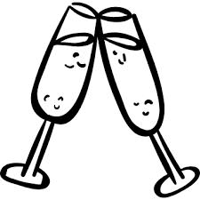 Toast Wedding Champagne Food Glasses Icon