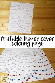 Coloring Page Binder Cover Printable Binder Cover Coloring Page