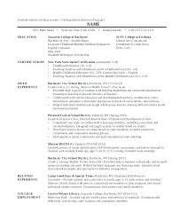 Sample Student Teacher Resume Nazareth College Resume Template How Write A Cv For Undergraduate