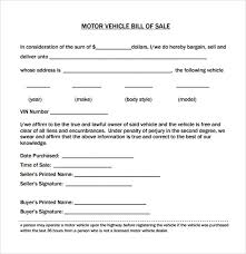 Printable Bill Of Sale Form To Buy Or Sell Anything From