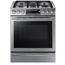 samsung 5 burner 5 8 cu ft self cleaning true convection slide in