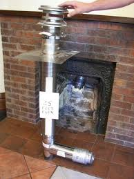 details about chimney flue exhaust kit fireplace insert for corn or wood pellet