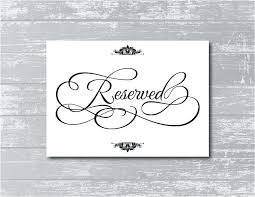 Reserved Signs Templates Wedding Signage Template Classic Monogram Invitations Fresh