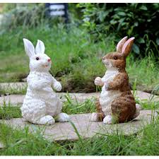 Rabbit Decorative Accessories Resin Rabbit Ornaments Outdoor Balcony Wedding Ceremony Decoration 6