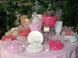 A: You can purchase new candy jars and containers or if you have time,  (many months before your wedding) ...