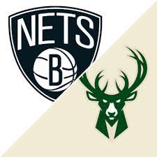 Ottima selezione di nets chrome logo tee | ️ consegna veloce ️ resi gratuiti. Nets Vs Bucks Game Summary June 10 2021 Espn