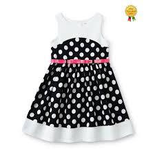 New Youngland Girls Dress Sundress Belt Polka Dot Sleeveless