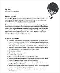 Social Media Job Description Marketing Coordinator Resume Social ...