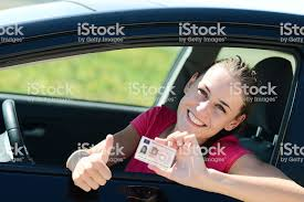 Photo amp; Young Istock Happy Stock Pictures - More Of Showing New Car Driving Woman License In Cheerful 2015