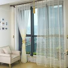 White Sheer Curtains With Light Yellow Patterns Are Very Beautiful ...