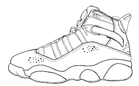 new jordan shoe coloring pages free and