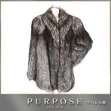 saga fox royal saga fox royal fox fur coat half length brown ivory mixture 13 lady s used apparel