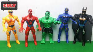 5 Anh em siêu nhân người nhện khổng lồ xanh spiderman kết hợp bootleg power  rangers toy for - YouTube