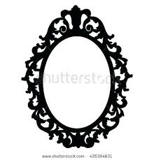 hand mirror drawing. Old Hand Mirror Vintage Frames Frame Picture . Drawing
