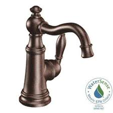 weymouth single hole 1 handle high arc bathroom faucet in oil rubbed bronze