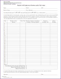 Self Employed Expenses Spreadsheet Free Expense Ledger Template