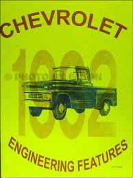 1962 chevrolet truck wiring diagram manual reprint related items