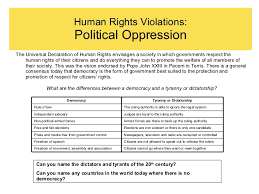 human rights vi form human rights violations