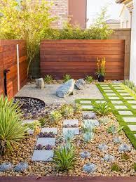 california zen rock garden with ipe