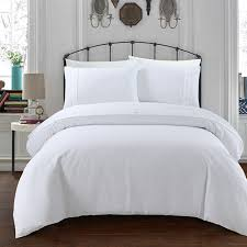 waffle white duvet quilt bedding cover bedsheet and pillowcase bedding set