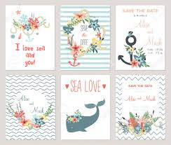 Save The Date Cards Template 6 Save The Date Cards Template Collection Summer Ocean Flowers