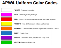 Apwa Uniform Color Code Chart Excavator Sc 811