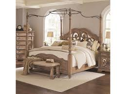 Ilana California King Canopy Bed with Mirror Back Headboard by Coaster at Dunk & Bright Furniture