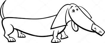 Teckel Hond Cartoon Kleurplaat Stockvector Izakowski 63586459
