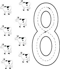 Number Coloring Pages For Toddlers Number Coloring Sheets For