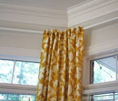 hanging curtains on angled windows diy bay window curtainshow