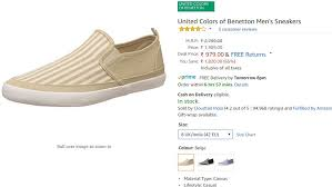 United Colors Of Benetton India Size Chart Flat 65 Off United Colors Of Benetton Mens Sneakers All