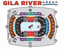 Coyotes Hockey Arena Seating Chart 58 Correct Gila River Arena Seating Capacity