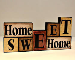 5 wooden letters home sweet home wood blocks mantle decor wooden letter blocks new