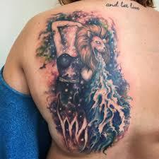 тату на спине символизирующая водолея фото татуировок